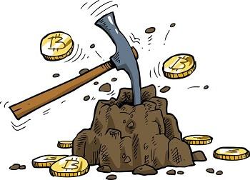 仮想通貨のマイニングのイメージ