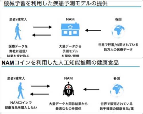 NAMコインのプロジェクト内容