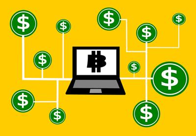 PCと仮想通貨のイメージ