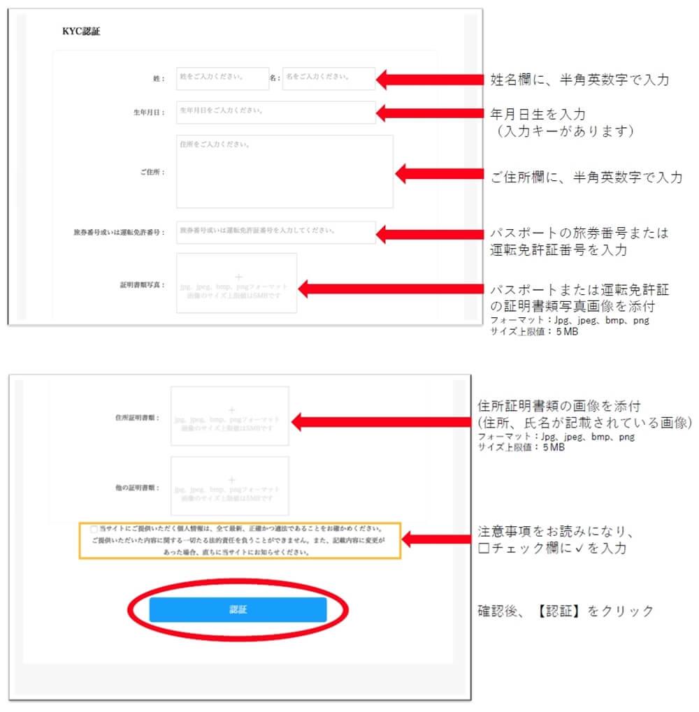 SB101の本人確認登録方法・手順