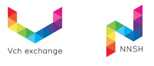 VchExchangeとナナシコインのロゴ