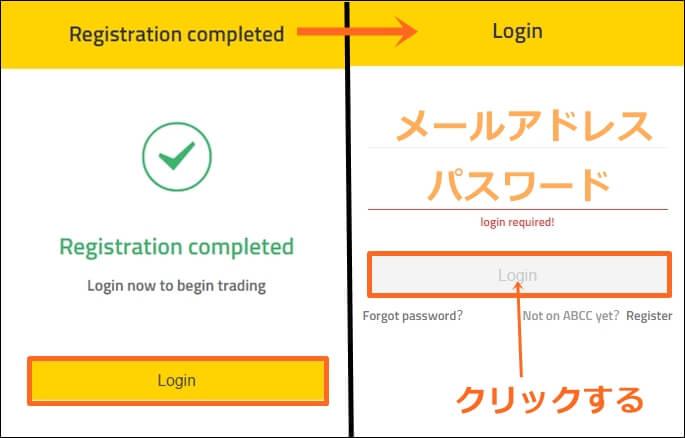 ABCC取引所の登録方法