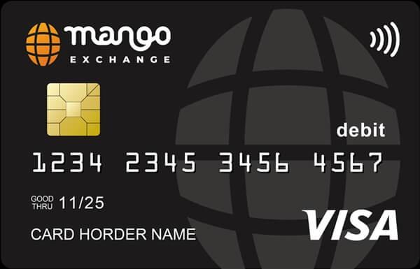 マンゴー取引所のデビットカード