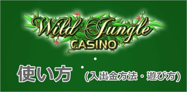 ワイルドジャングルカジノの使い方