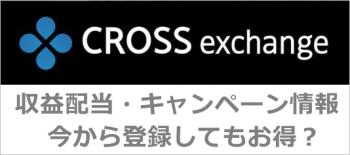 クロスエクスチェンジのキャンペーン情報・配当報告