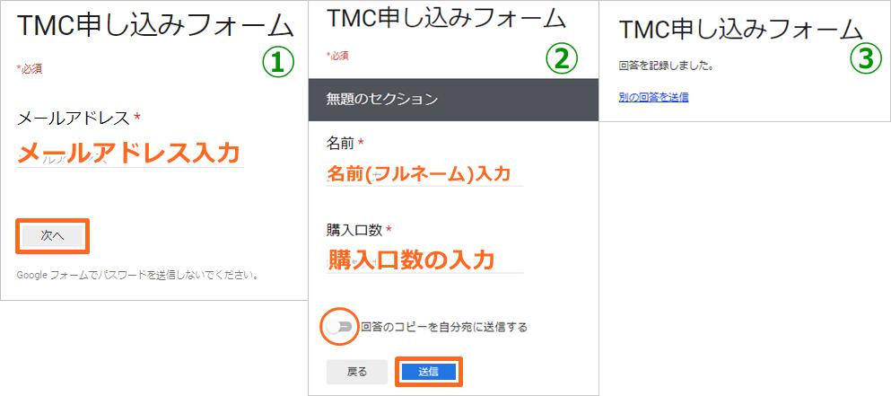タイムコイン(クロノコイン)の申込みフォーム