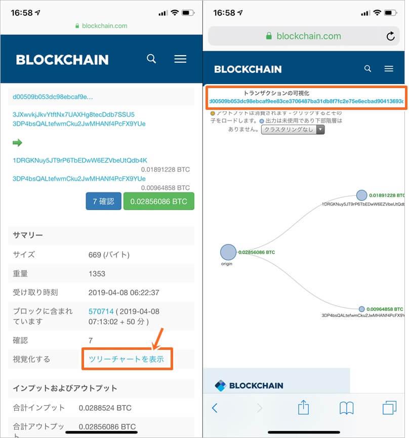 ブロックチェーンウォレットのトランザクションID確認方法