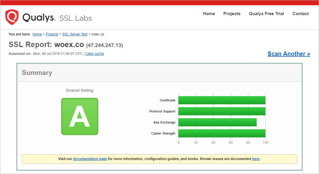 Woエクスチェンジのセキュリティレベル