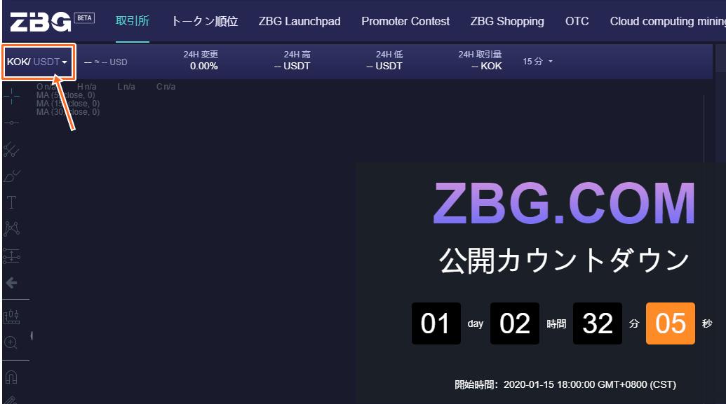 ZBG仮想通貨の取引所