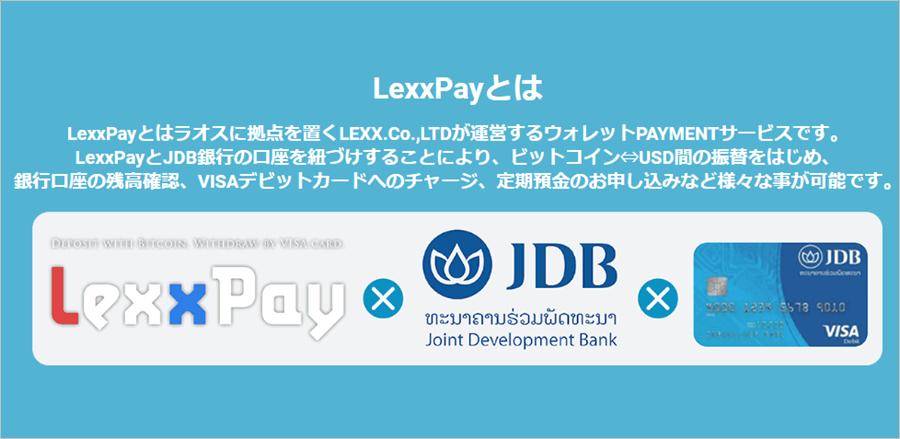 lexxpayとラオス銀行とVISAカード