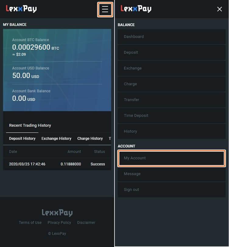 lexxpay(JDB銀行)の紹介者の確認手順