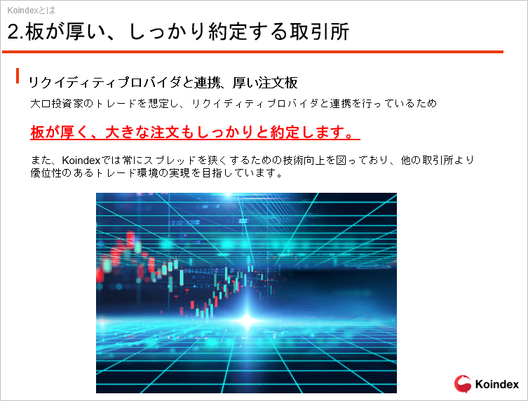 コインデックス取引所の特徴